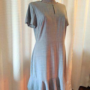 Banana Republic Lightweight Wool Gray Dress 14